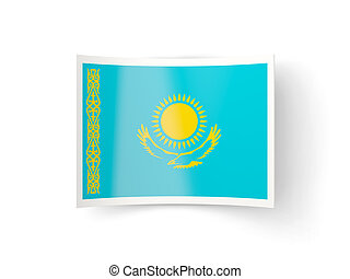 Bent icon with flag of kazakhstan