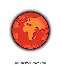 global warming globe