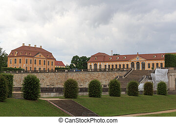 Friedrich, paleis, en, orangery, op, Barok, tuin,...