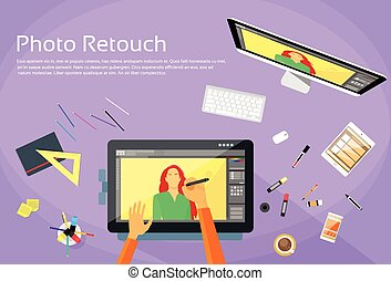 Graphic Designer Professional Tablet Drawing Photographer...