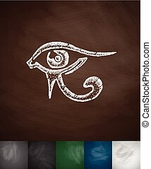 eye of Horus icon Hand drawn Chalkboard Design
