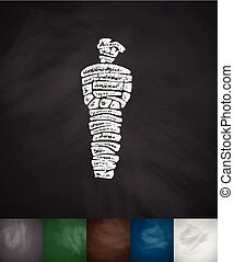 mummy icon Hand drawn Chalkboard Design