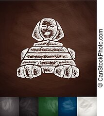sphinx icon Hand drawn Chalkboard Design