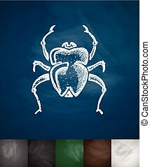 scarab icon Hand drawn Chalkboard Design