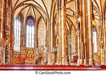 Interior St. Stephen's Cathedral(Stephansdom) the mother...