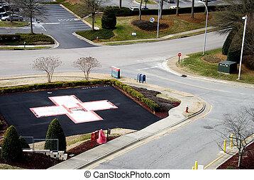 Hospital Helipad - A Hospital Helipad at a medical trauma...