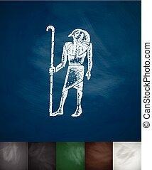 Thoth icon. Chalkboard Design