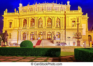 Building of the National Opera of Prague and the Czech...