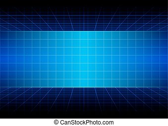 abstract blue background with grid design. illustration vector.