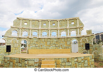 PERM, RUSSIA - JUNE 18, 2014: Improvised Colosseum for...