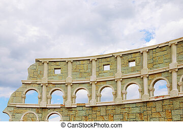 PERM, RUSSIA - JUNE 18, 2014: Part of improvised Colosseum...