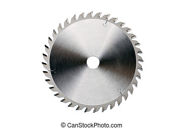 saw blade - photo shot of saw blade on white background