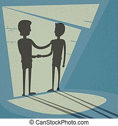 Handshake Business Hands Shake Black Deal Concept...