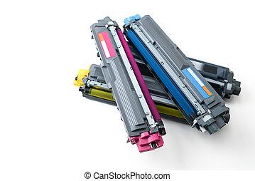 cartridges of color laser printer