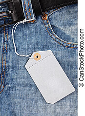 blue jeans with price tag