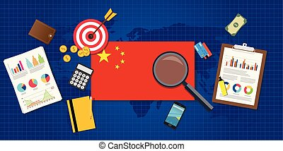 china economy economic rising with good chart and graph and...