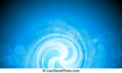 Shiny blue swirl video animation with sparks - Shiny blue...