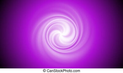 Abstract bright purple swirl rotation video animation -...