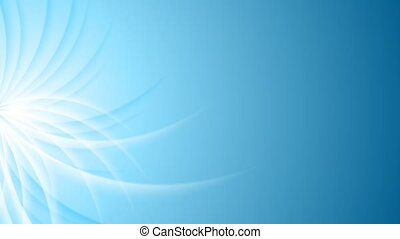 Bright blue waves elegant abstract video animation - Bright...