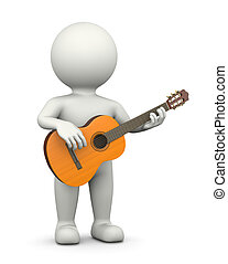 Guitarist 3D Character - Guitarist, Standing White Character...