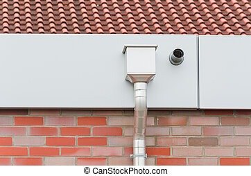 Aluminum gutter box water collector box for roof drainage