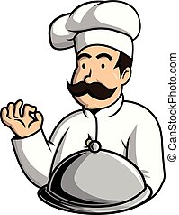 Oldman chef illustration design