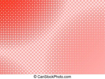 Red Squared Background