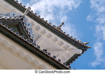 Kanazawa castle in Japan - The famous white castle of...