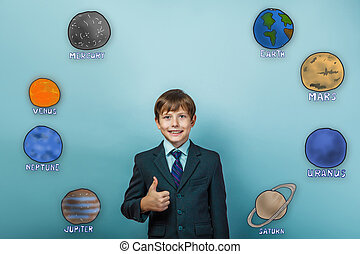 Adolescente, niño, hombre de negocios,...
