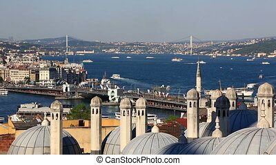 Summer view at crowded Instanbul, Turkey - Summer view at...