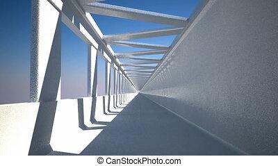 Loopable motion through the corridor - Pass-through....