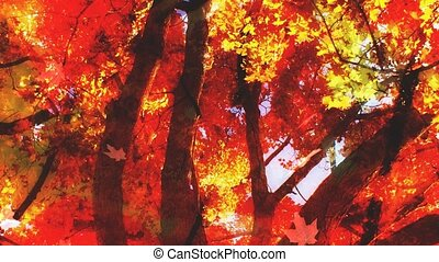 Fall Leaves Looping Background Two - Fall Season Leaves...