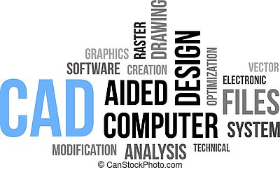 word cloud - cad - A word cloud of computer aided design...