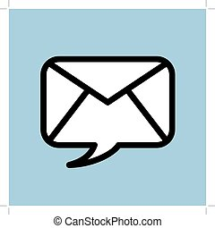 Speech Bubble for Mobile Speech Bubble and mail Vector...