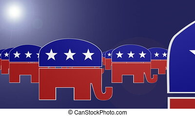 Republican Symbol Looping Animated Background