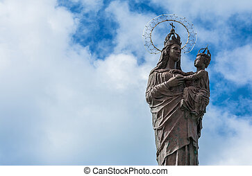 Mary star of the sea statue in Trapani, Italy - TRAPANI,...