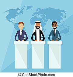 International Leaders President Press Conference Arabic...