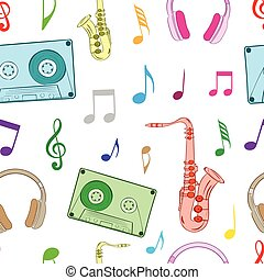 Musical subjects on the white