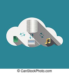 Cloud computing concept Storage drives, music and photos...