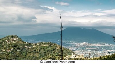 Timelapse - View on Vesuv volcano, Piemonte, Italy