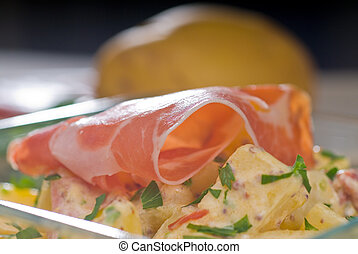 parma ham and potato salad - fresh home made parma ham and...