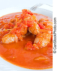 Sausages in tomato sauce - This is sausages in tomato sauce...
