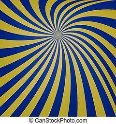 Blue yellow spiral design