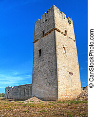 Ancient Red Stones Tower of Giovinazzo Apulia - This is an...