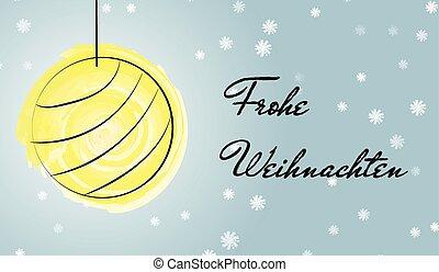 Christmas German greetings card wit