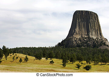 Devils Tower National Monument Bear Lodge in Native american...