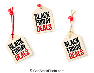 Collection of tags with the text Black Friday Deals
