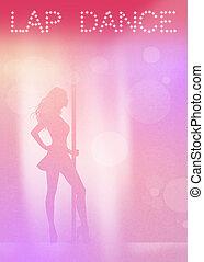 Lap dance - illustration of Lap dancer
