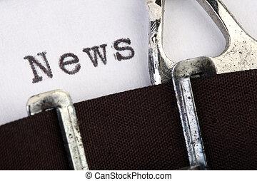 News on old typewriter