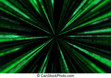 starburst matrix code on white background, with speed motion...